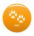 rabbit step icon orange vector image