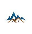 real estate house mountain logo template vector image vector image