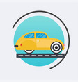 retro car icon travel concept background flat vector image