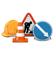 Road Construction Concept vector image vector image