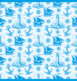 seamless pattern with lighthouse vector image