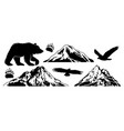 set collection bundle wildlife outdoor objects vector image