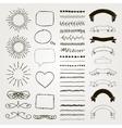set decorative hand drawn design vector image