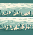 set horizontal banners with snowy forest vector image vector image