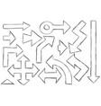 set of arrows doodles vector image vector image