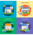 Smart House Colored Icon Set vector image vector image