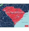 south carolina state detailed editable map vector image vector image