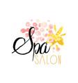 spa salon or center original delicate logo design vector image