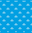 sticker stationery pattern seamless blue vector image vector image
