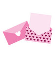 valentine day card vector image vector image