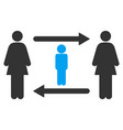 women guy exchange icon vector image vector image