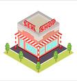 Sex Shop isometric icon vector image