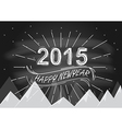 2015 Vintage New Year Typographical Background vector image