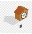 cuckoo clock isometric icon vector image