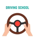 hand holding steering wheel vector image