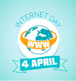 4 April Internet day vector image vector image