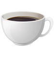 A white cup with coffee vector image vector image