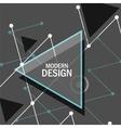 Abstract rapid triangular design vector image vector image