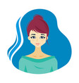 avatar of a woman vector image vector image