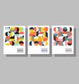 bauhaus geometric graphic design templates vector image