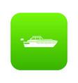 big yacht icon digital green vector image vector image