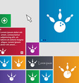 bowling icon sign buttons Modern interface website vector image vector image