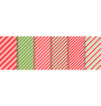 cane candy seamless pattern red green vector image