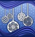 christmas background decoration laser cut balls vector image vector image