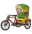 classic color cycle rickshaw