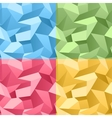 Colored Seamless 3d Crumpled background vector image vector image