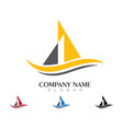 cruise ship logo template vector image