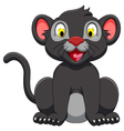 cute black panther sitting vector image vector image