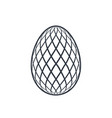easter egg icon black egg sign isolated white vector image vector image