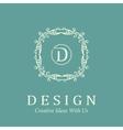 elegant monochrome monogram design templates logo vector image