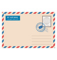 envelope with postmarks vector image