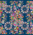 floral in asian textile elegance seamless pattern vector image vector image