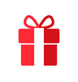 gift box icon in linear style with bow vector image vector image