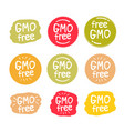 gmo free product icon isolated logo vector image