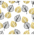 gold autumn floral background glitter textured vector image