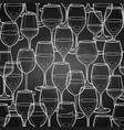 graphic seamless pattern of wine glasses vector image vector image