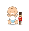 happy baby toy design graphic vector image vector image