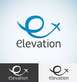 Letter E Logo concept template for start up flight vector image