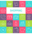 Line Art Modern Shopping and Retail Icons Set vector image vector image