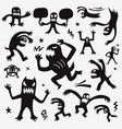 monsters icon set vector image vector image