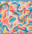 non-seamless futuristic papercut print vector image vector image