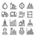 oil and gas industry icons set on white background vector image vector image