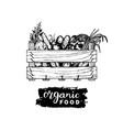 organic vegetables logo farm eco products vector image vector image