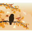 Owl mobbed vector image vector image