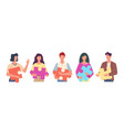 people hold puzzle success teamwork women vector image