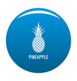 pineapple icon blue vector image vector image